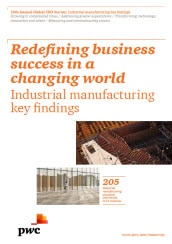 19th Annual Global CEO Survey: Industrial manufacturing key findings