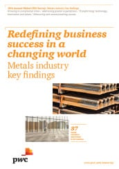 19th Annual Global CEO Survey - Key findings in the metals industry (pdf file, 2.12MB)