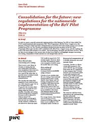Consolidation for the future: new regulations for the nationwide implementation of the B2V Pilot Programme (pdf file, 156KB)